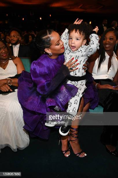 Rihanna and Heiress Diana Harris attend the 51st NAACP Image Awards, Presented by BET, at Pasadena Civic Auditorium on February 22, 2020 in Pasadena,...