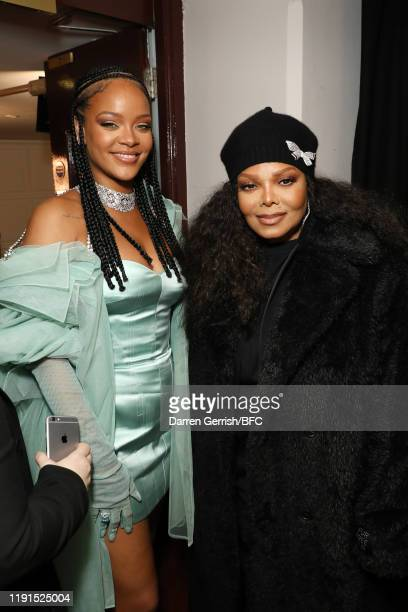 Rihanna and Janet Jackson backstage stage during The Fashion Awards 2019 held at Royal Albert Hall on December 02, 2019 in London, England.