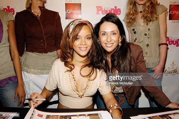 Rihanna and Michele Bohbot attend JCPenney Teen People Host Miss Bisou Fashion Launch at The JCPenney Experience on March 18 2006 in New York City