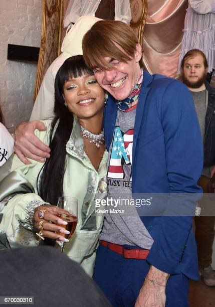 Rihanna and Neiman Marcus' Ken Downing at the FENTY PUMA by Rihanna Experience on April 18 2017 in Los Angeles California
