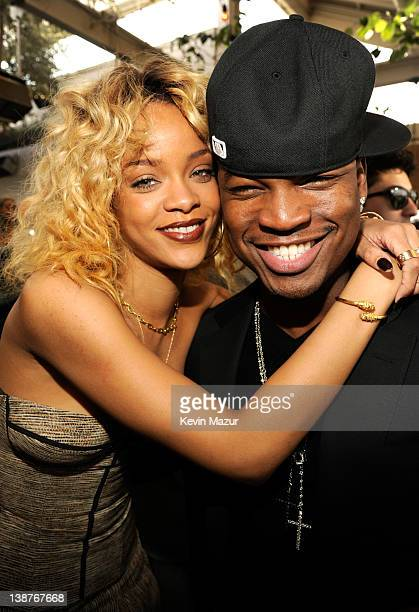 Rihanna and NeYo attend the 4th Annual Roc Nation PreGRAMMY brunch at Soho House on February 11 2012 in West Hollywood California