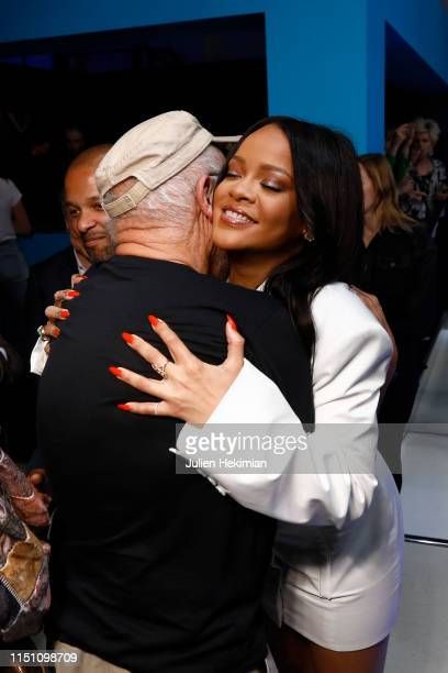 Rihanna and Peter Lindbergh attend Fenty Launch on May 22 2019 in Paris France