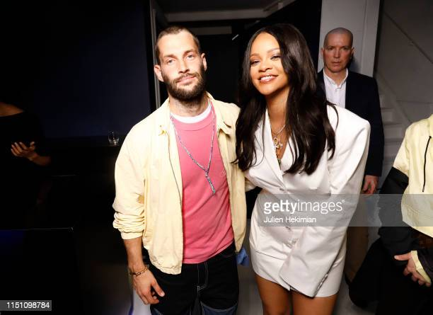 Rihanna and Simon Porte Jacquemus attend Fenty Launch on May 22, 2019 in Paris, France.