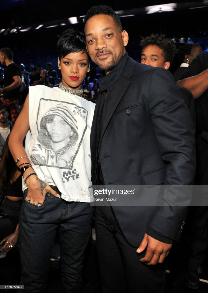 Rihanna and Will Smith attend the 2013 MTV Video Music Awards at the Barclays Center on August 25, 2013 in the Brooklyn borough of New York City.