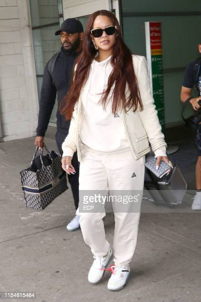 Rihanna arrives at JFK Airport on June 8 2019 in New York City