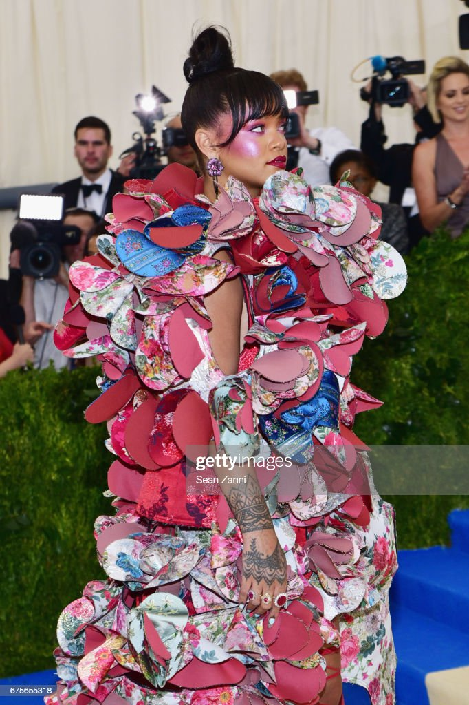 Rihanna arrives at 'Rei Kawakubo/Comme des Garcons: Art Of The In-Between' Costume Institute Gala at The Metropolitan Museum on May 1, 2017 in New York City.