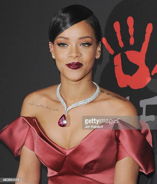 Rihanna arrives at Rihanna's First Annual Diamond Ball at The Vineyard on December 11 2014 in Beverly Hills California