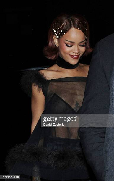 Rihanna arrives at Rihanna's Private Met Gala After Party at Up & Down on May 4, 2015 in New York City.