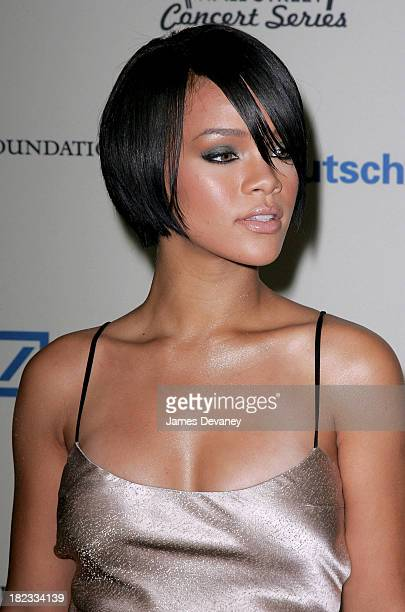 Rihanna arrives at the 2007 Cipriani Wall Street Concert Series at Cipriani Wall Street on October 09 2007 in New York City