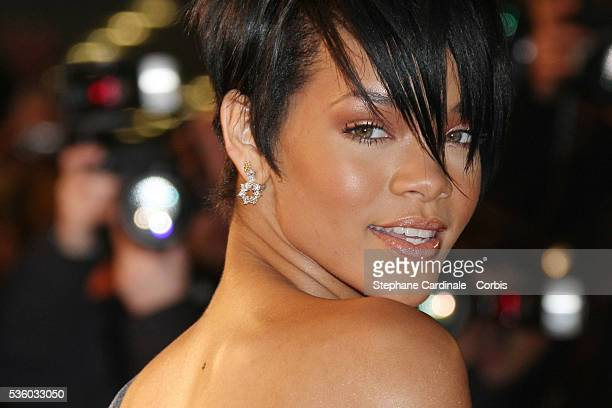 Rihanna arrives at the 2008 NRJ Music Awards in Cannes.
