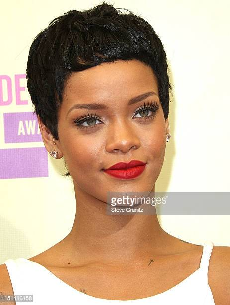 Rihanna arrives at the 2012 MTV Video Music Awards at Staples Center on September 6 2012 in Los Angeles California