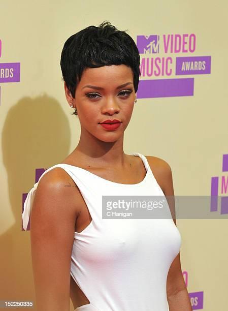 Rihanna arrives at the 2012 MTV Video Music Awards at Staples Center on September 6 2012 in Los Angeles California
