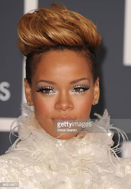 Rihanna arrives at the 52nd Annual GRAMMY Awards held at Staples Center on January 31 2010 in Los Angeles California