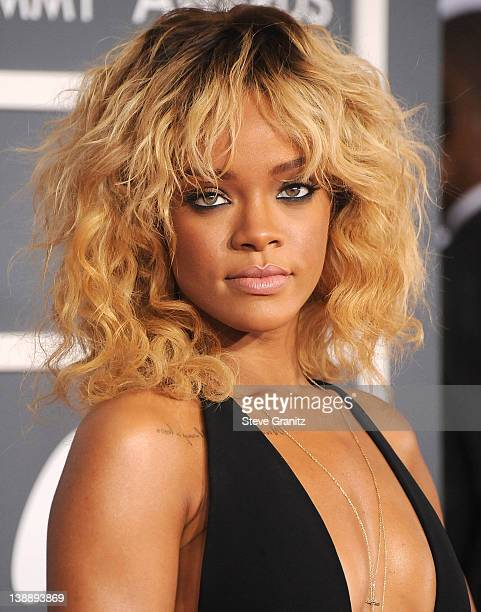 Rihanna arrives at The 54th Annual GRAMMY Awards at Staples Center on February 12 2012 in Los Angeles California