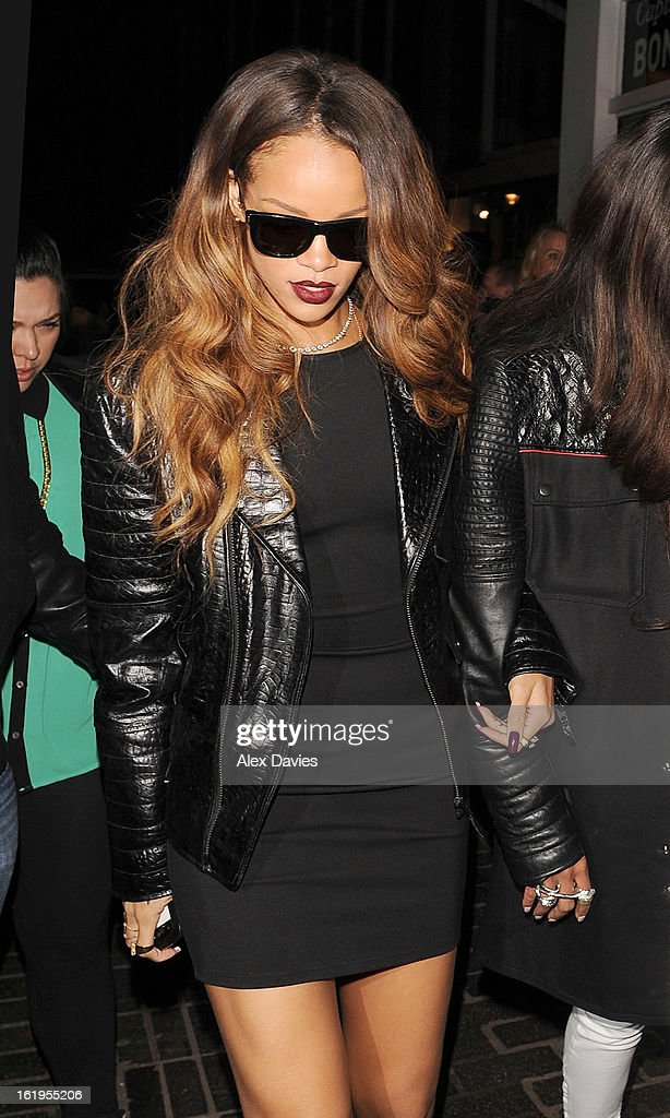 Rihanna Sighting In London - February 16, 2013 : News Photo