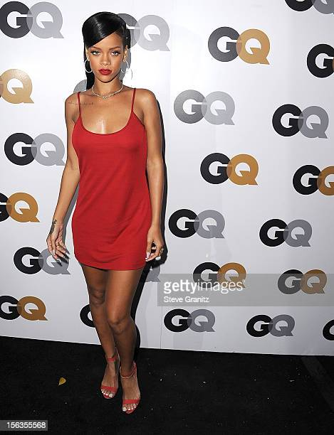 Rihanna arrives at the GQ Men Of The Year Party at Chateau Marmont on November 13 2012 in Los Angeles California