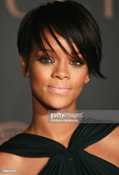 Rihanna arrives at the Madonna Gucci Present A Night to Benefit Raising Malawi at the United Nations on February 6 2007 in New York City