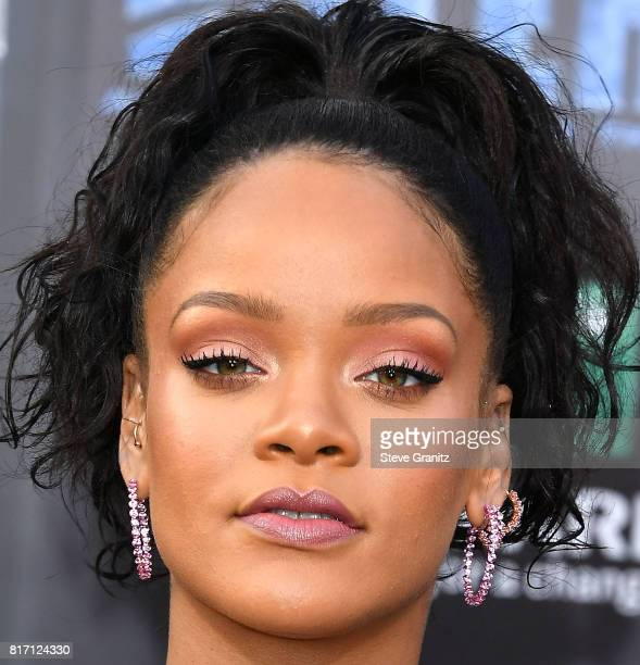 Rihanna arrives at the Premiere Of EuropaCorp And STX Entertainment's 'Valerian And The City Of A Thousand Planets' at TCL Chinese Theatre on July 17...