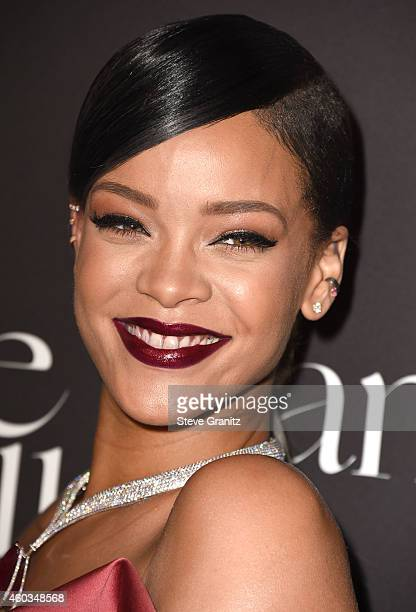 Rihanna arrives at the Rihanna's First Annual Diamond Ball at The Vineyard on December 11, 2014 in Beverly Hills, California.