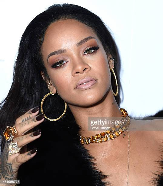 Rihanna arrives at the The Daily Front Row's 1st Annual Fashion Los Angeles Awards at Sunset Tower Hotel on January 22 2015 in West Hollywood...