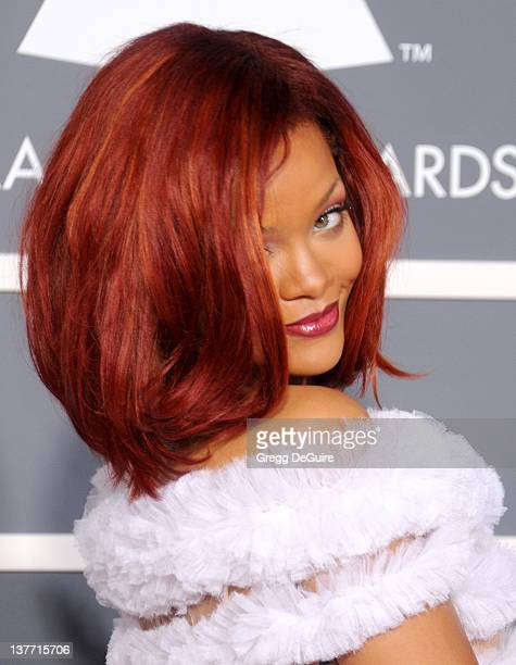 Rihanna arrives for the 53rd Annual GRAMMY Awards at the Staples Center, February 13, 2011 in Los Angeles, California.