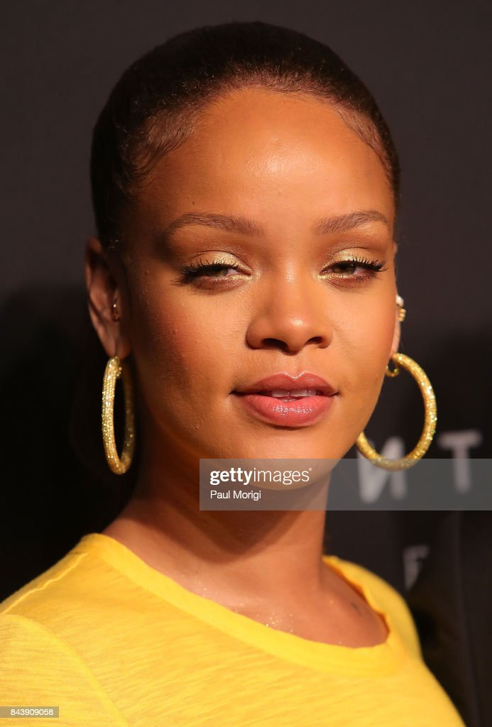 Rihanna arrives to the Fenty by Rihanna Launch at the Duggal Greenhouse on September 7, 2017 in New York City.