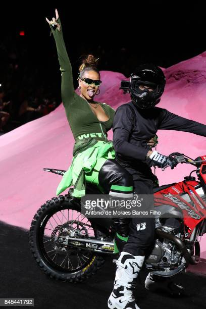 Rihanna at Fenty Puma By Rihanna show during New York Fashion Week at the 69th Regiment Armory on September 10 2017 in New York City