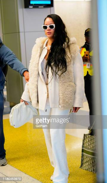 Rihanna at JFK Airport on October 11 2019 in New York City