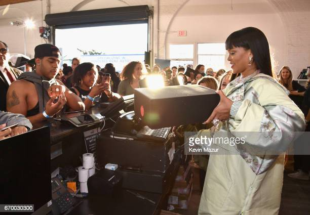 Rihanna at the FENTY PUMA by Rihanna Experience on April 18 2017 in Los Angeles California