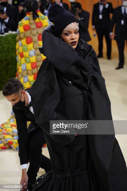 Rihanna attends 2021 Costume Institute Benefit - In America: A Lexicon of Fashion at the Metropolitan Museum of Art on September 13, 2021 in New York...