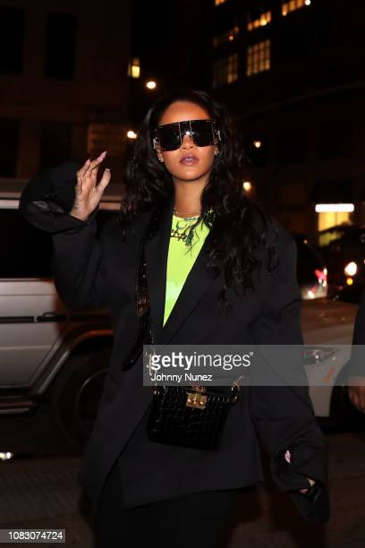 Rihanna attends 718 Spank In Concert at SOB's on January 14 2019 in New York City
