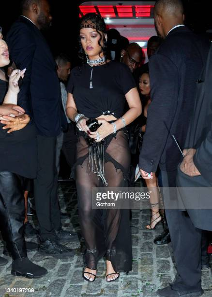 Rihanna attends a Met Gala afterparty at DAVIDE on September 13, 2021 in New York City.