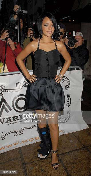 Rihanna attends announcement of MOBO nominations at Mo*vida Club on August 22 2007 in London