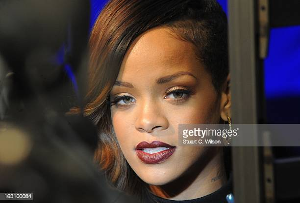 Rihanna attends as the Rihanna for River Island collection is launched at the Oxford Street River Island store on March 4 2013 in London England
