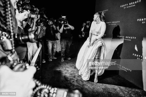 Rihanna attends Fenty Beauty by Rihanna Launch on September 7 2017 in the Brooklyn borough of New York City New York