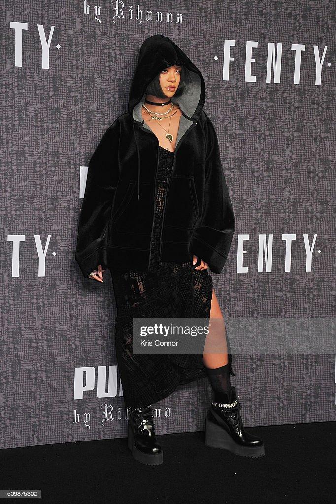 FENTY x PUMA by Rihanna - Arrivals - Fall 2016 New York Fashion Week : News Photo