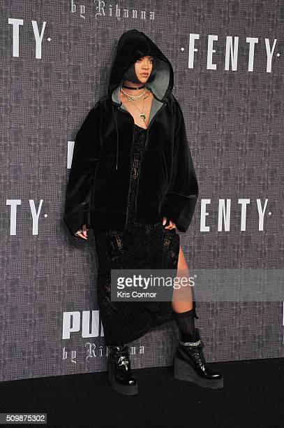 Rihanna attends FENTY x PUMA by Rihanna at 23 Wall Street on February 12 2016 in New York City