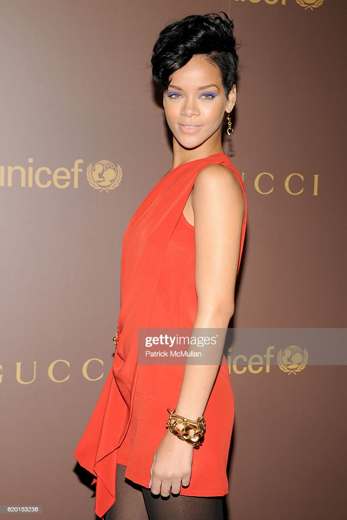 Rihanna Attends Gucci Unicef Hosts Snowflake Lighting With Tails At Flagship