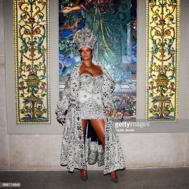 Rihanna attends Heavenly Bodies Fashion The Catholic Imagination Costume Institute Gala at The Metropolitan Museum of Art on May 7 2018 in New York...