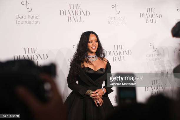 Rihanna attends her 3rd Annual Diamond Ball at Cipriani Wall Street on September 14 2017 in New York City