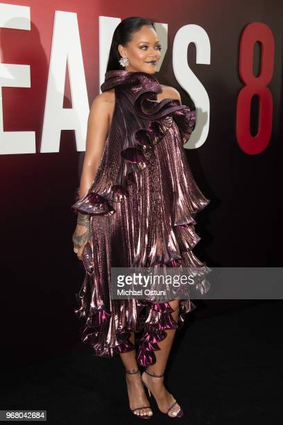 Rihanna attends 'Ocean's 8' World Premiere at Alice Tully Hall on June 5 2018 in New York City