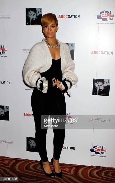 Rihanna attends photocall at Westfields to promote her 2010 UK tour on December 9 2009 in London England