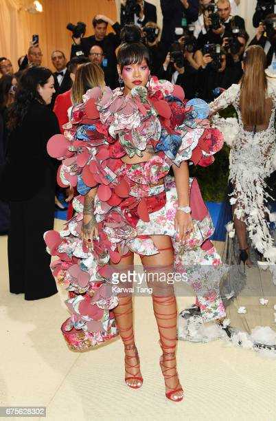 Rihanna attends 'Rei Kawakubo/Comme des Garcons Art Of The InBetween' Costume Institute Gala at Metropolitan Museum of Art on May 1 2017 in New York...