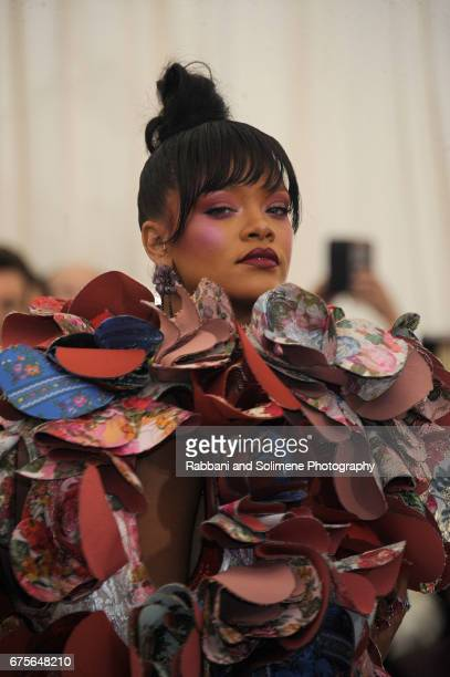 Rihanna attends 'Rei Kawakubo/Comme des Garcons Art Of The InBetween' Costume Institute Gala Arrivals at Metropolitan Museum of Art on May 1 2017 in...