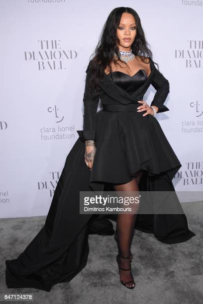 Rihanna attends Rihanna's 3rd Annual Diamond Ball Benefitting The Clara Lionel Foundation at Cipriani Wall Street on September 14, 2017 in New York...