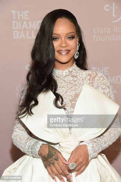 Rihanna attends Rihanna's 4th Annual Diamond Ball benefitting The Clara Lionel Foundation at Cipriani Wall Street on September 13 2018 in New York...