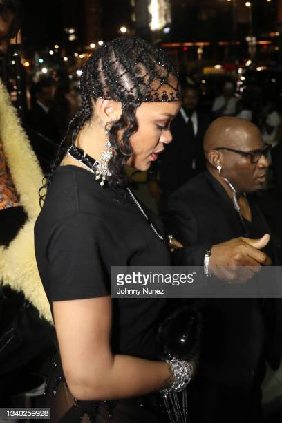 Rihanna attends Rihanna's Met Gala After Party on September 13, 2021 in New York City.