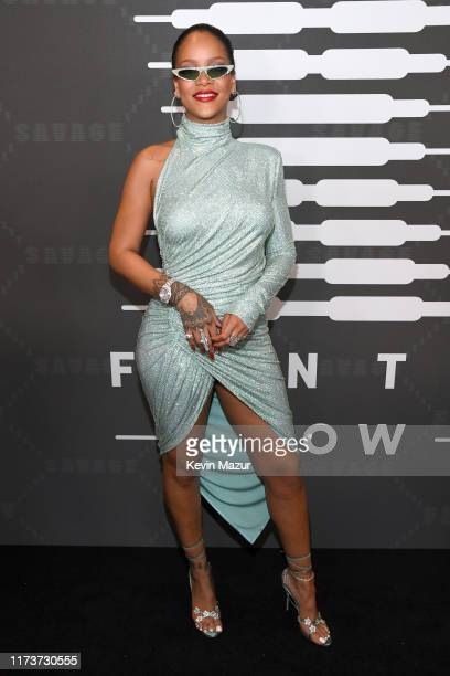 Rihanna attends Savage X Fenty Show Presented By Amazon Prime Video Arrivals at Barclays Center on September 10 2019 in Brooklyn New York