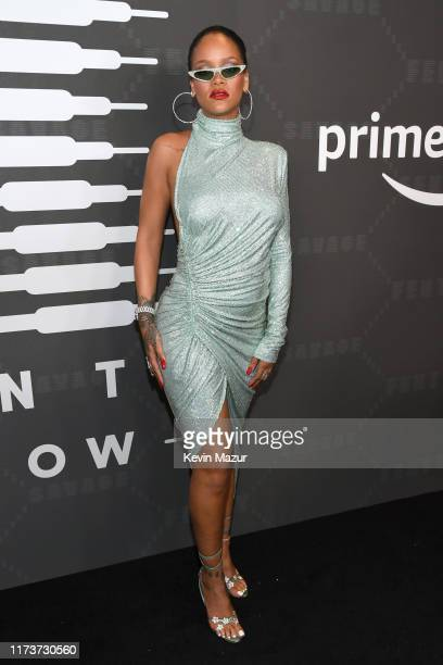 Rihanna attends Savage X Fenty Show Presented By Amazon Prime Video - Arrivals at Barclays Center on September 10, 2019 in Brooklyn, New York.
