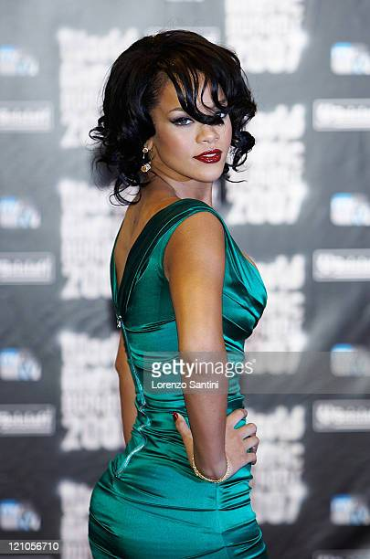 Rihanna attends the 2007 World Music Awards held at the Sporting Club on November 4, 2007 in Monte Carlo, Monaco.